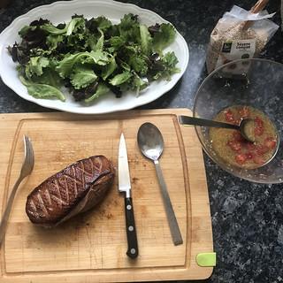 Salade chaude de magret de canard au gingembre5