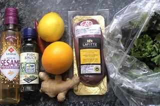 Salade chaude de magret de canard au gingembre4