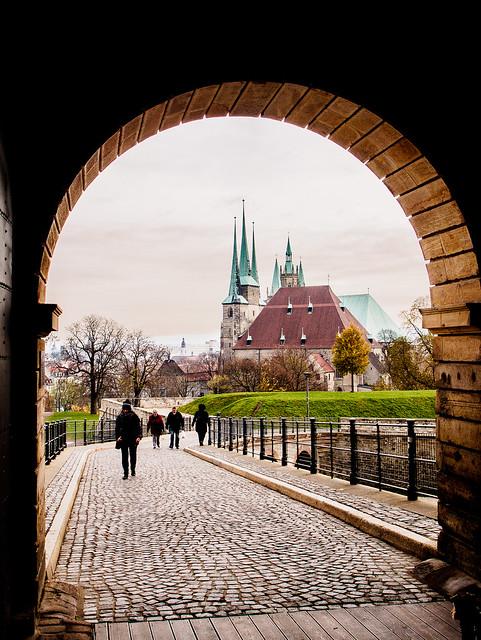 Leaving the Erfurt Citadel