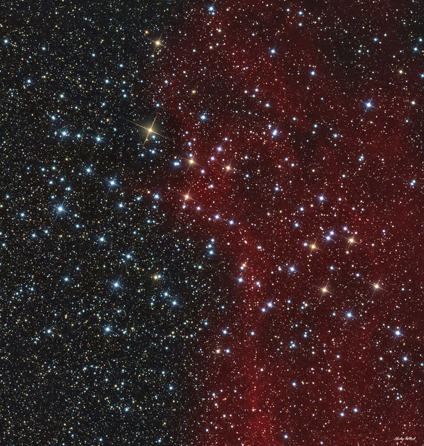 NGC 3532, the richly colourful bright star cluster