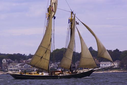 sail boat ship vessel schooner water ocean sea nautical maritime landscape outdoors vacation