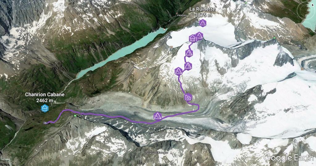 La Ruinette Walliser Alpen / Alpes valaisannes Schweiz foto 02