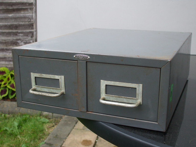 Vintage Set Of Industrial Drawers Made By The  Cole Steel Equipment Co New York USA