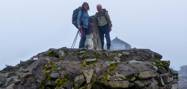 Bedraggled on the summit