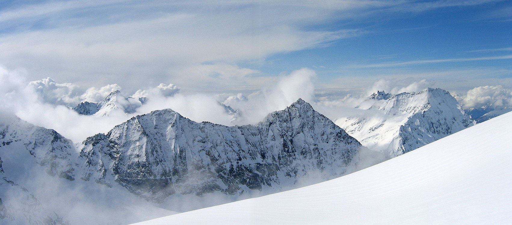 La Ruinette Walliser Alpen / Alpes valaisannes Švýcarsko panorama 35