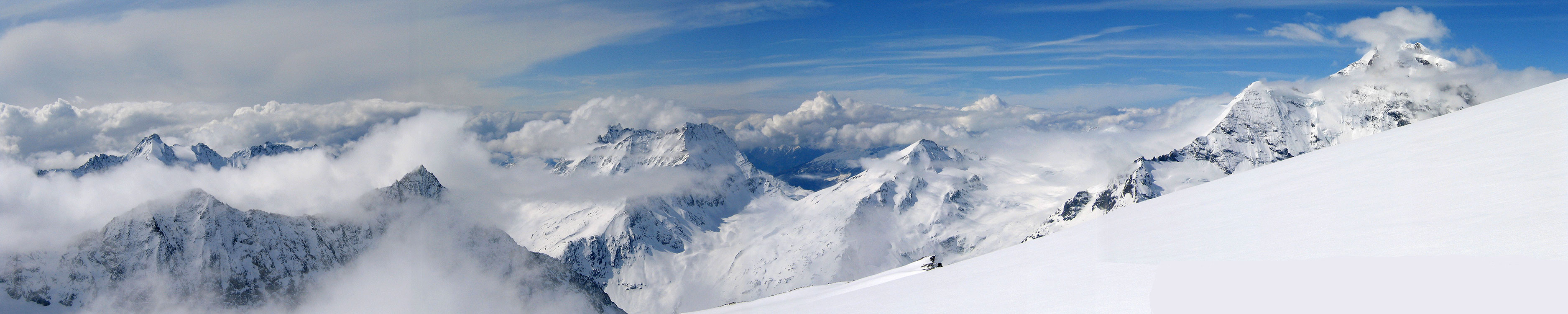La Ruinette Walliser Alpen / Alpes valaisannes Švýcarsko panorama 29