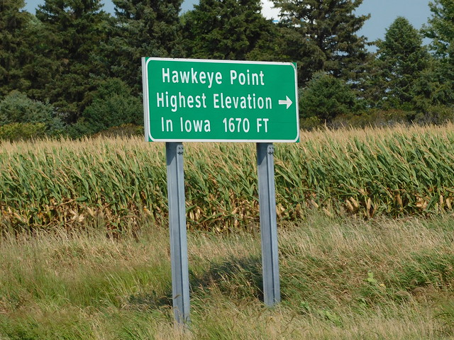 Highest Point in Iowa Sign