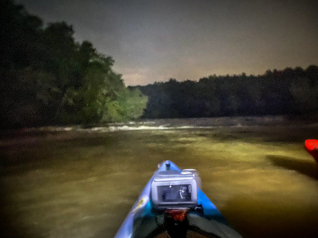 Full Moon Paddle on the Saluda River