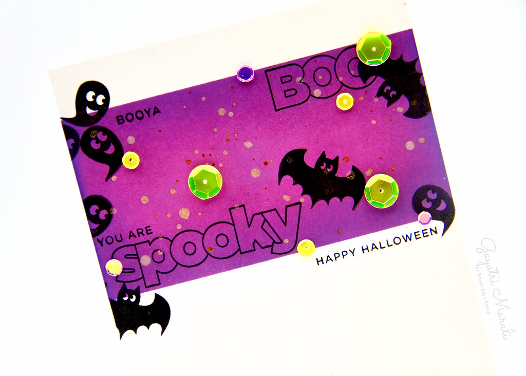 Spooky card closeup