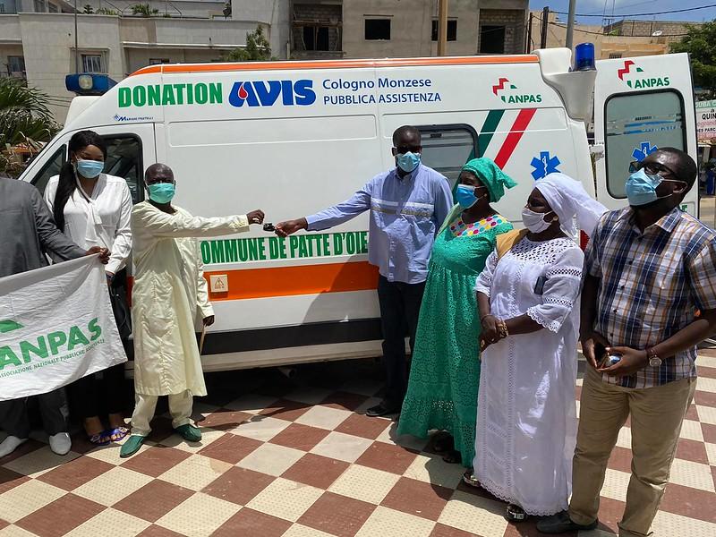 Ricevuta a Patte D'Oie l'ambulanza donata da AVIS Cologno.