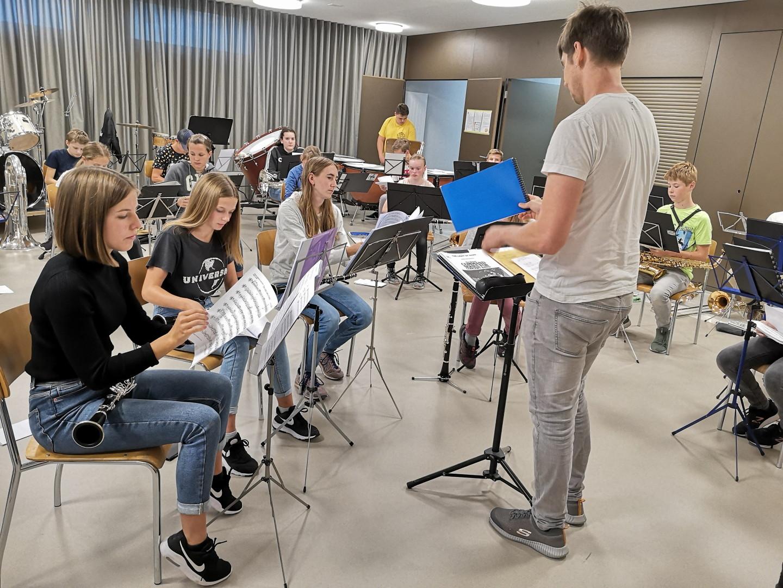 Erste Probe Jungmusik Rottal 2020