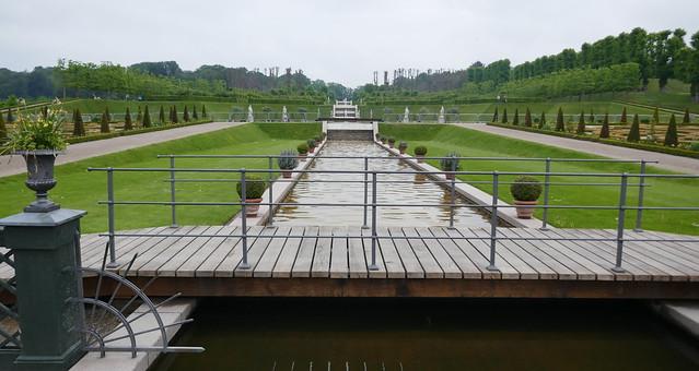Jardins, château de Frederiksborg (XVIe-XVIIe), Hillerød, Sélande, Danemark.