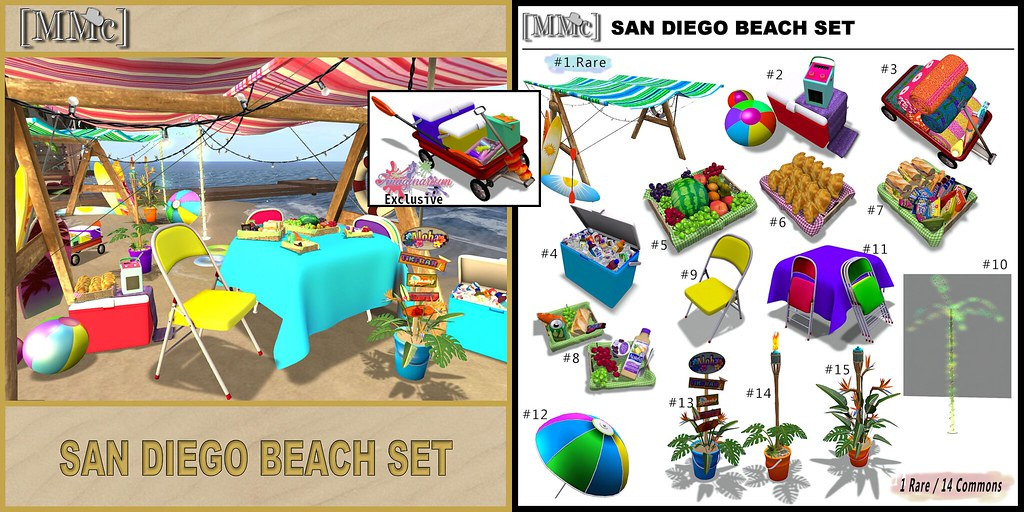 [MMc] San Diego Beach Set