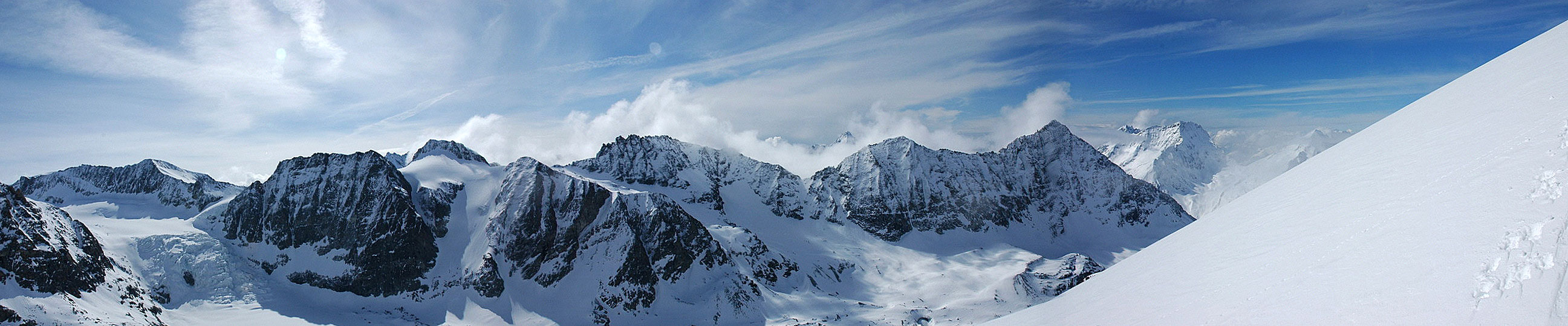 La Ruinette Walliser Alpen / Alpes valaisannes Schweiz panorama 34