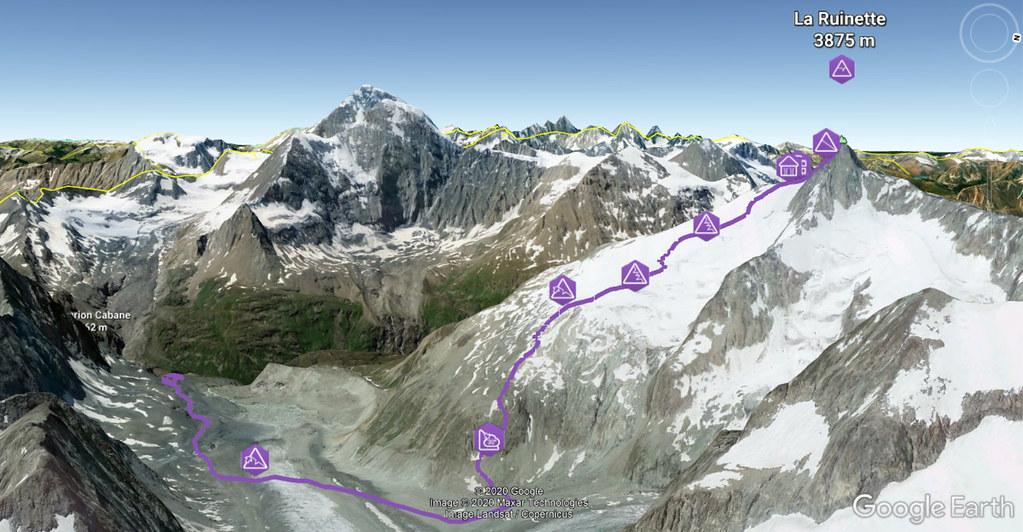La Ruinette Walliser Alpen / Alpes valaisannes Schweiz foto 03