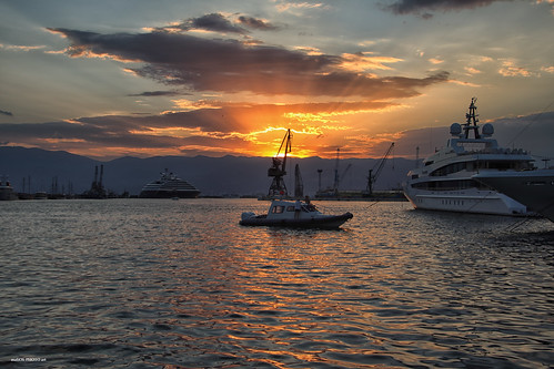 harbor boat sky sunset dusk sea rijeka adriatic croatia hrvatska europe canon