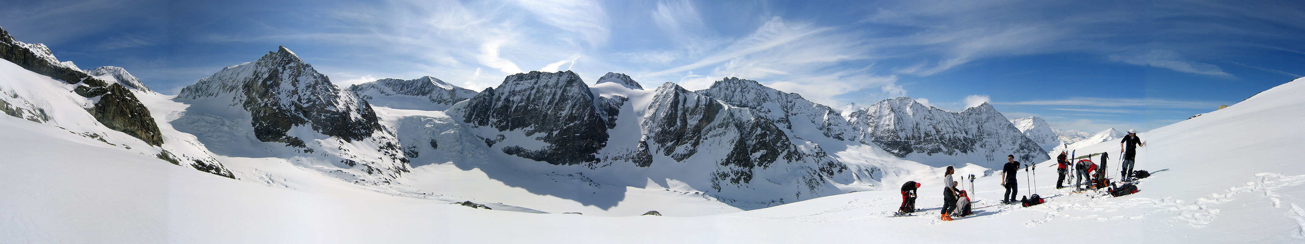 La Ruinette Walliser Alpen / Alpes valaisannes Švýcarsko panorama 25
