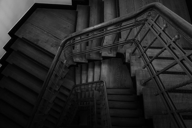 The creak on the stairs
