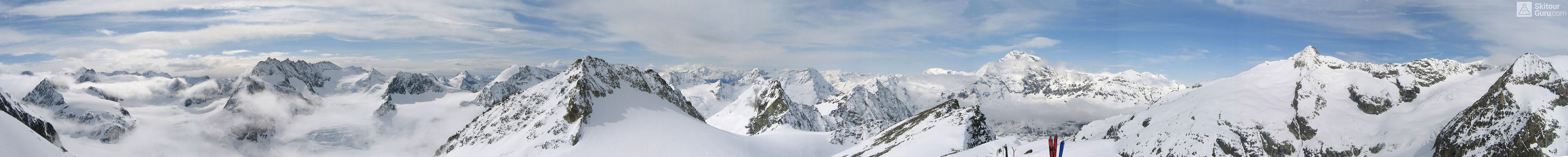 La Ruinette Walliser Alpen / Alpes valaisannes Schweiz panorama 06