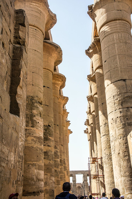 Processional colonnade of Amenhotep III at Egypt's Luxor temple