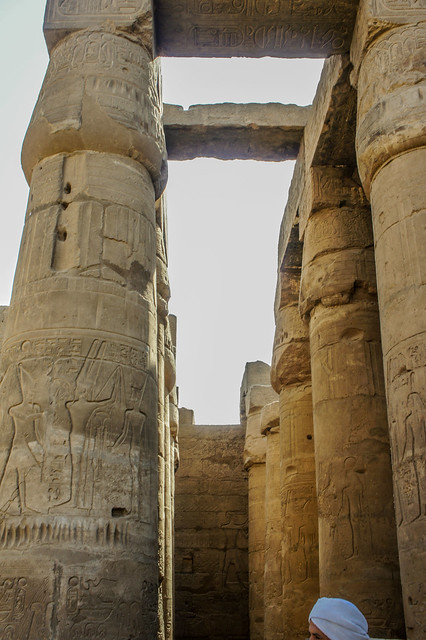 The first courtyard of Luxor temple