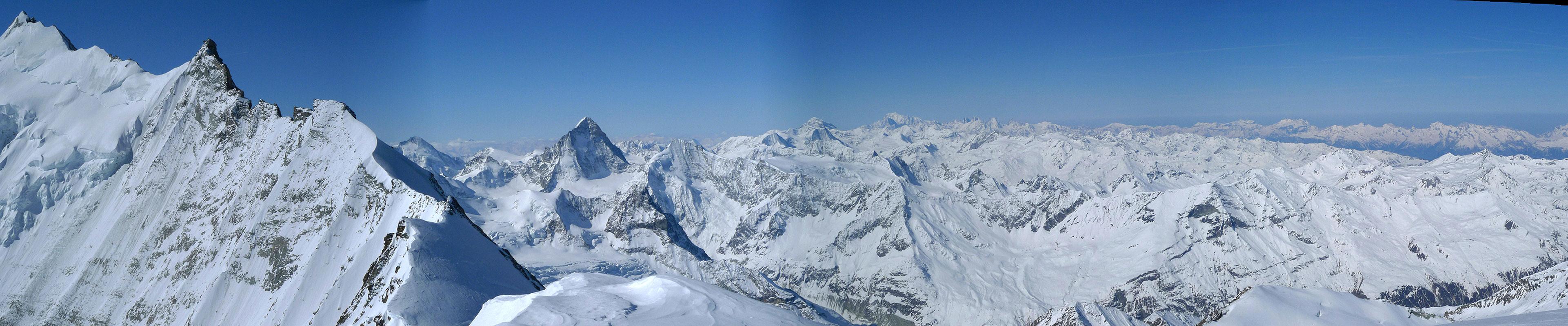 Bishorn Walliser Alpen / Alpes valaisannes Switzerland panorama 41