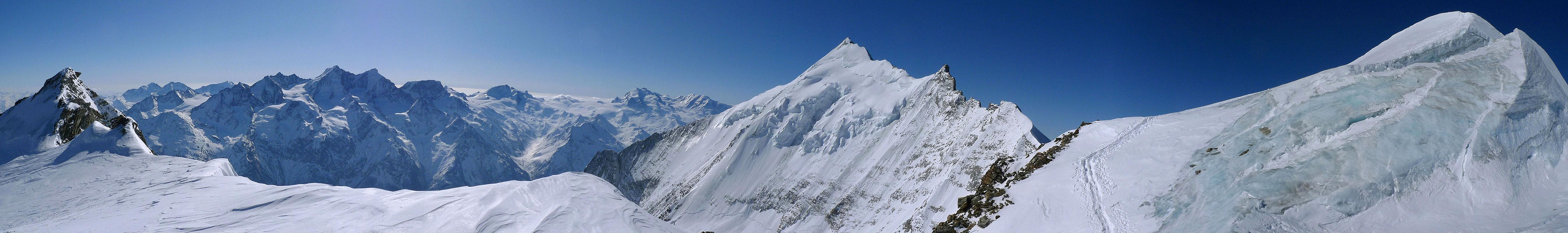 Bishorn Walliser Alpen / Alpes valaisannes Switzerland panorama 49