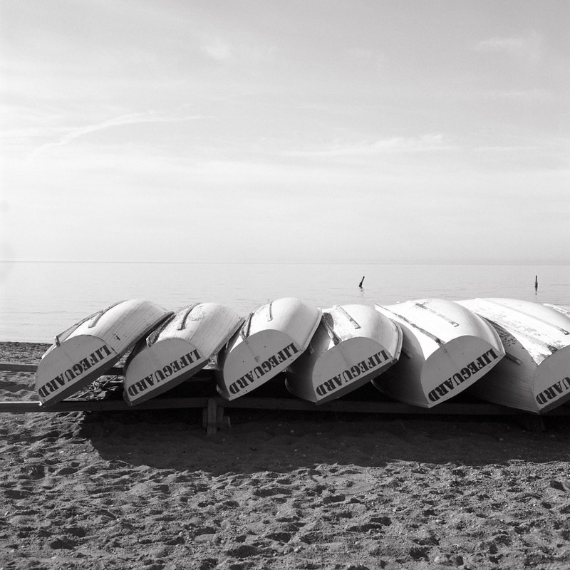 Stored Lifeguard Boats Late August