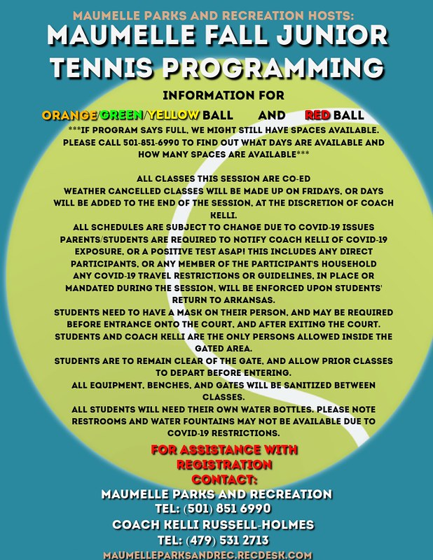Maumelle FALL TENNIS INFORMATION FLYER
