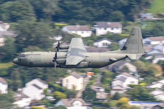 RAF C130J-30 Hercules C4 ZH867 low level in the English Lake District