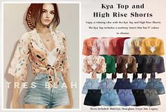 Tres Blah - Kya Top and High Rise Shorts AD 2020