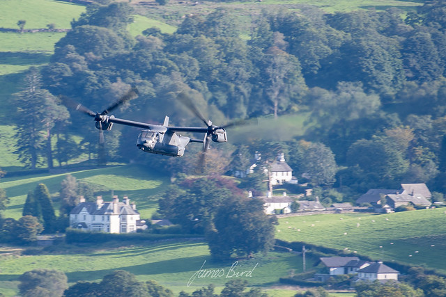 USAF CV-22 Osprey 11-0059 from RAF Mildenhall low level in the English Lake District