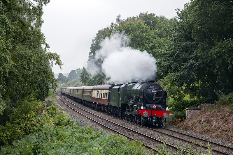 No.46100 'Royal Scot' heads the final Fellsman of 2020 past Armathwaite with the outward working on 2nd September 2020.