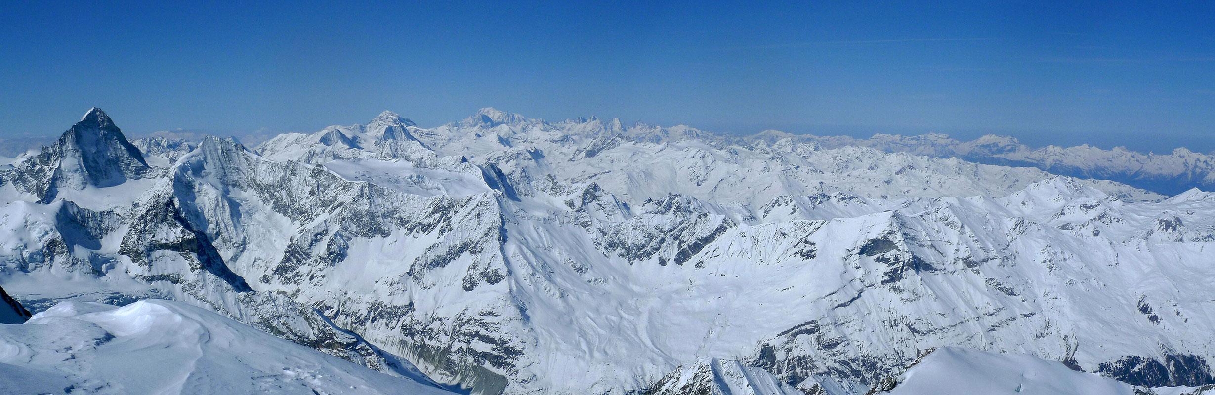 Bishorn Walliser Alpen / Alpes valaisannes Switzerland panorama 40