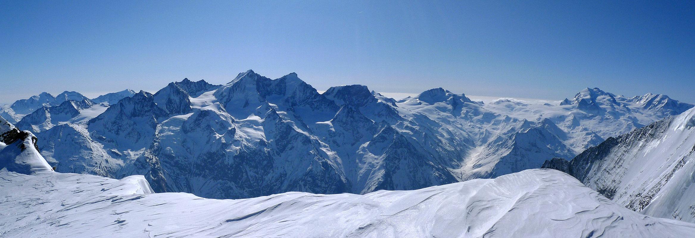 Bishorn Walliser Alpen / Alpes valaisannes Switzerland panorama 50