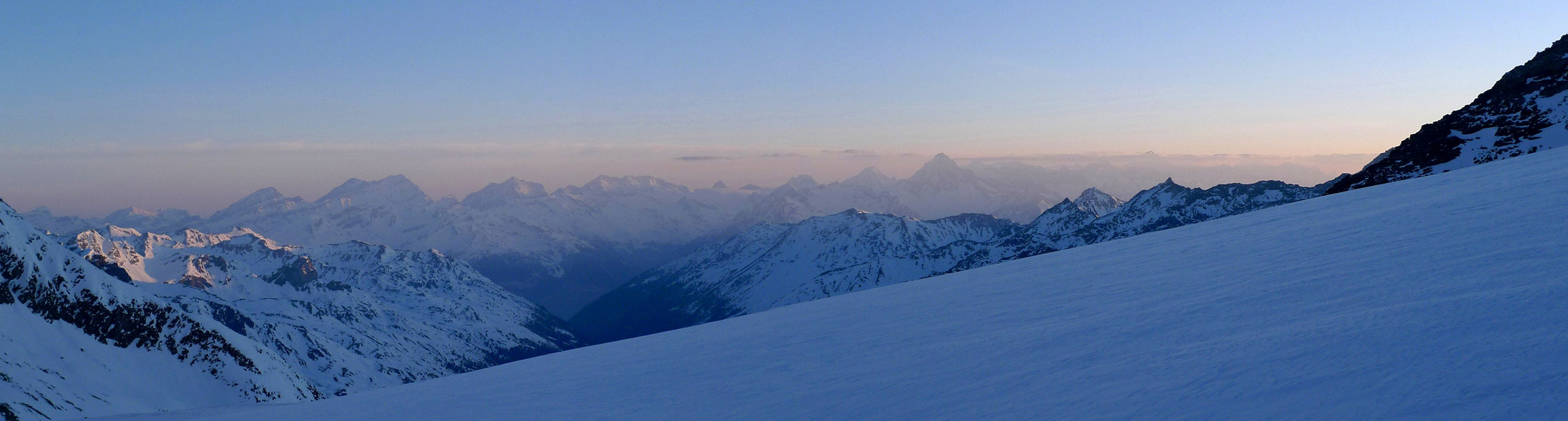 Bishorn Walliser Alpen / Alpes valaisannes Switzerland panorama 14