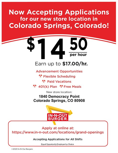 CL- Colorado Springs, CO - 09-2020 - Now Accepting Applications