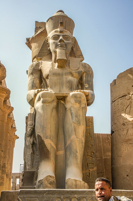 Colossal Statue of Ramses II at Egypt's Luxor temple