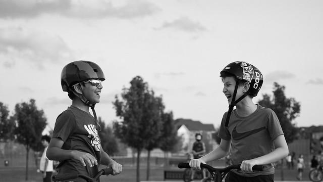 Friends at the Skatepark