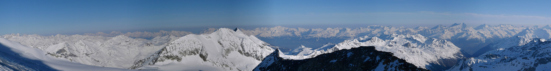 Bishorn Walliser Alpen / Alpes valaisannes Switzerland panorama 24