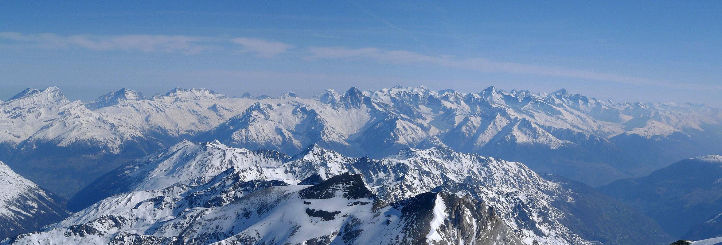 Bishorn Walliser Alpen / Alpes valaisannes Switzerland panorama 43