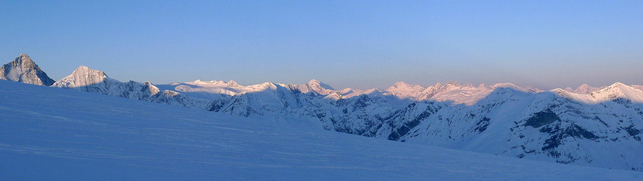 Bishorn Walliser Alpen / Alpes valaisannes Switzerland panorama 11