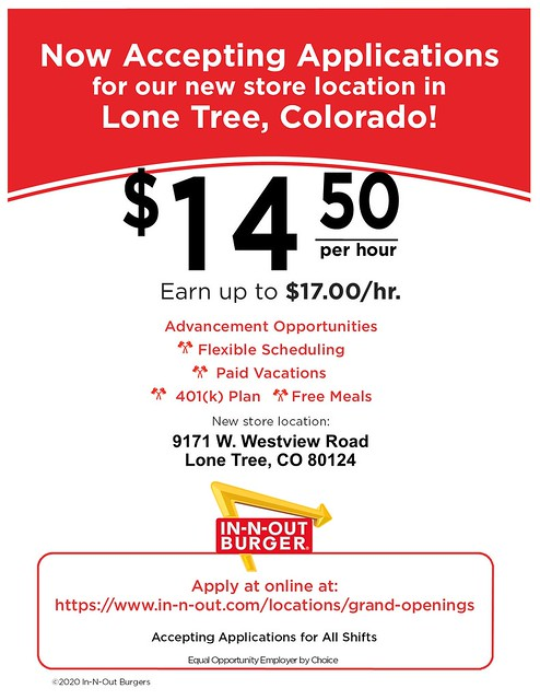 CL- Lone Tree, CO - 09-2020 - Now Accepting Applications