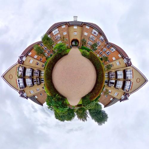 Sutton Court, Crane Mead, Ware. #LittlePlanet #TinyPlanet #LifeIn360 #RicohTheta #Theta360 #thetaZ1 #ware #hertfordshire