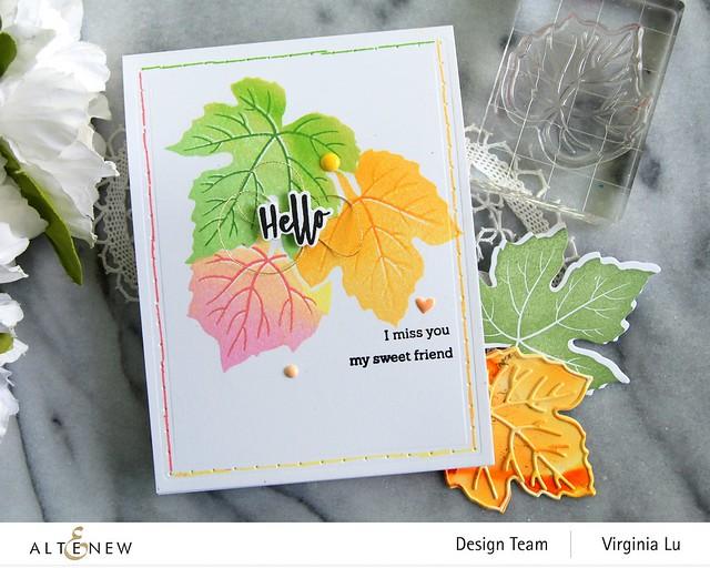 09-12-2020-Grape Leaves Stamp Set-String Art Rectangles Die Set -001