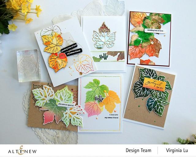 09-12-2020-Grape Leaves Stamp Set-String Art Rectangles Die Set -003