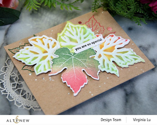 09-12-2020-Grape Leaves Stamp Set-GrapeLeaves Die Set-Mixed Media Pigment Ink-002