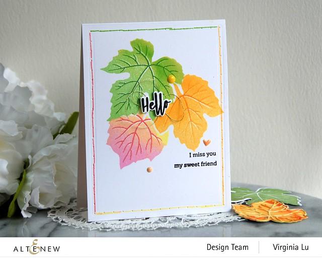 09-12-2020-Grape Leaves Stamp Set-String Art Rectangles Die Set