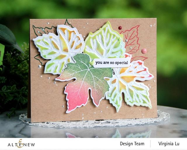 09-12-2020-Grape Leaves Stamp Set-GrapeLeaves Die Set-Mixed Media Pigment Ink