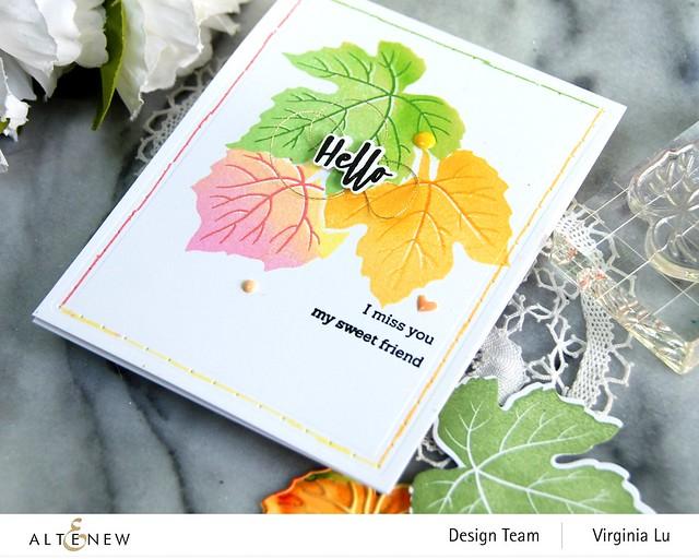 09-12-2020-Grape Leaves Stamp Set-String Art Rectangles Die Set -002